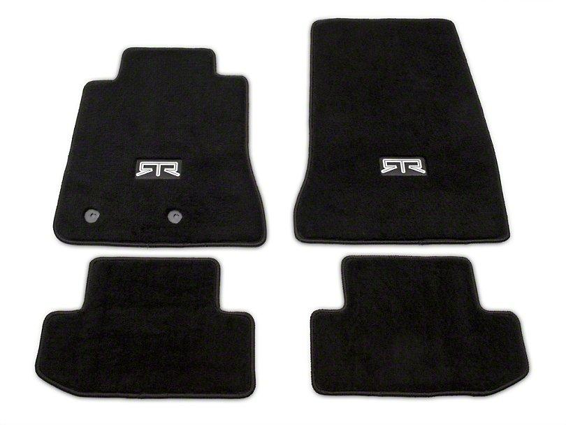 RTR Front & Rear Floor Mats w/ RTR Logo - Black (15-21 Mustang - All) - RTR Vehicles