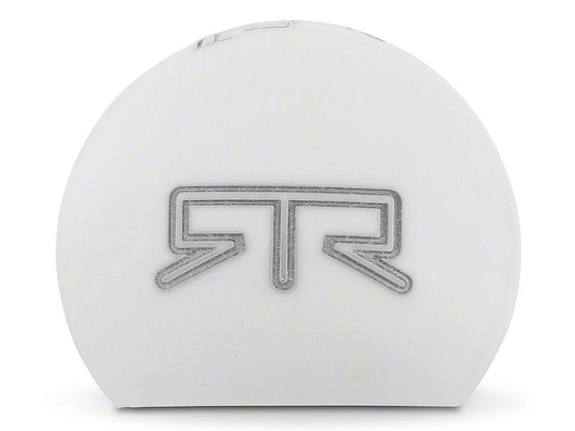 RTR White Shift Knob - Gray Engraving (15-21 Mustang - GT, EcoBoost, V6) - RTR Vehicles
