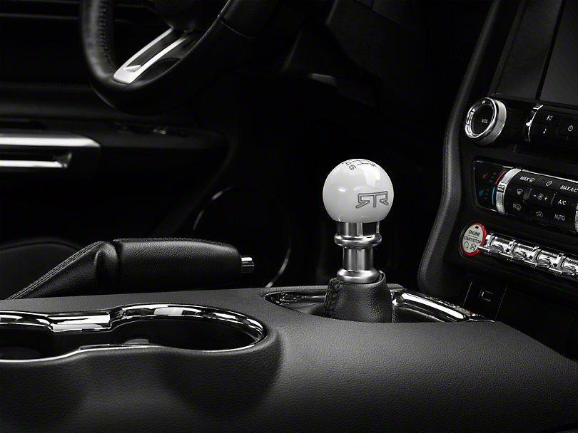 RTR White Shift Knob - Gray Engraving (11-14 GT, V6) - RTR Vehicles