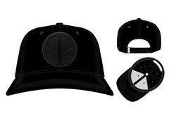 low priced a6cbf db8ef ... Deadpool Insignia Ball Cap, Marvel Anti-Hero Black Patch Logo, Dad Hat