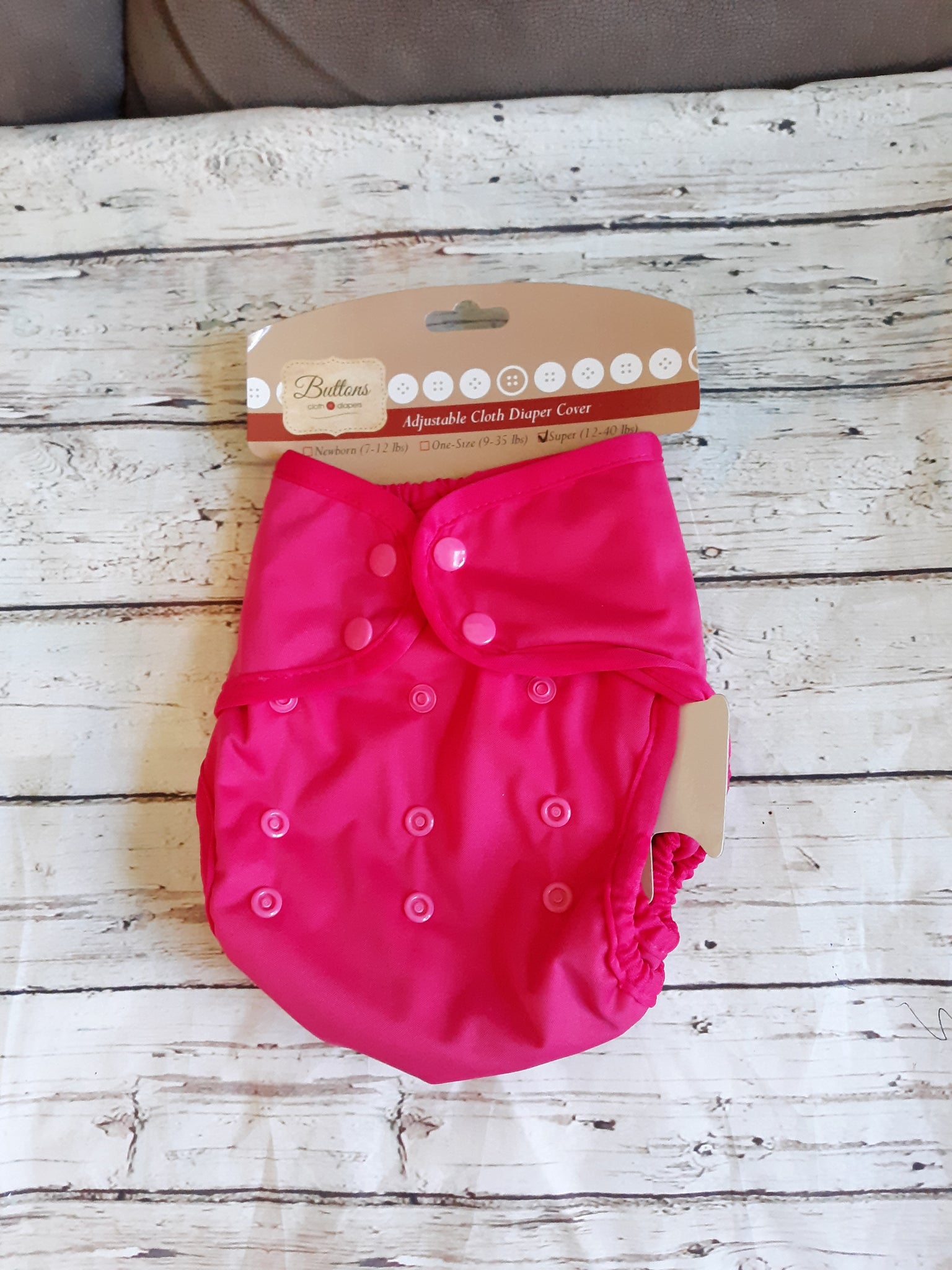 Buttons Cloth Diaper Cover Snap Super One Size 12-40lbs
