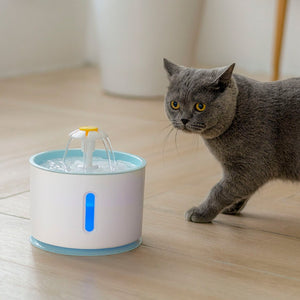 2.4L LED Electric Mute Water Feeder  For Cat and Dog Automatic Cat Water Fountain USB Dog Pet Drinker Bowl Pet Drinking Dispenser