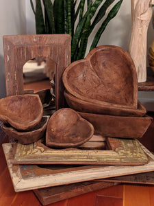 Large Wood Heart Bowl