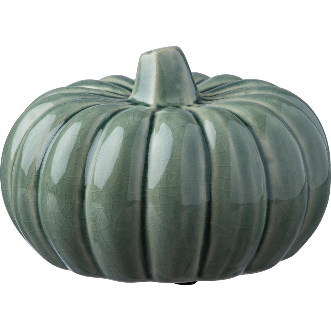 Green Ceramic Pumpkin