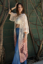 Load image into Gallery viewer, Ombre Bohemian Lace Kimono