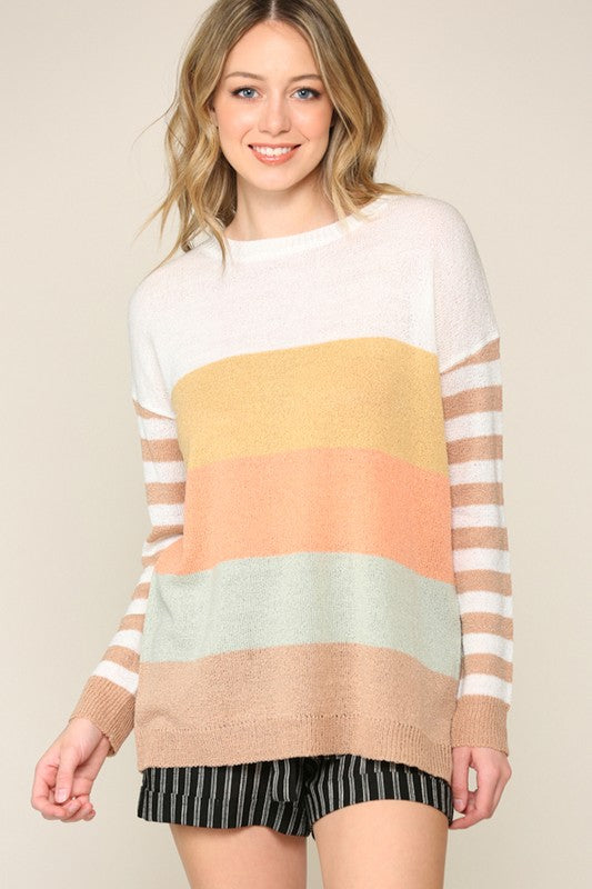 Stripe & Color Block Sweater