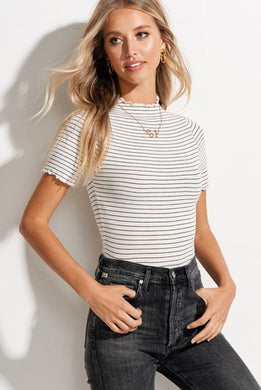 Ribbed Cabbage Hem Top
