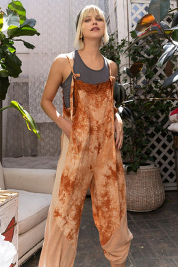 Orange Tie Dye Jumpsuit