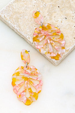 Pink Shell Earring