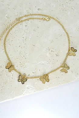 14 inch Butterfly Necklace