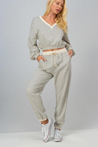 Stripe Terry Set
