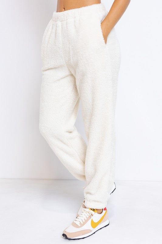 Fuzzy Fleece Sweats