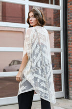 Load image into Gallery viewer, Embroidered Mesh Leaf Kimono