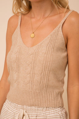 Cable Knit Tank
