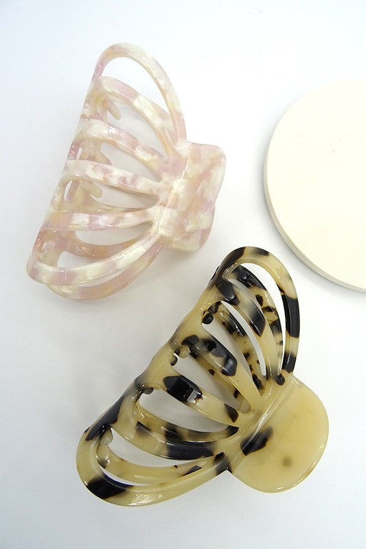 Cream Large Claw Hair Clip