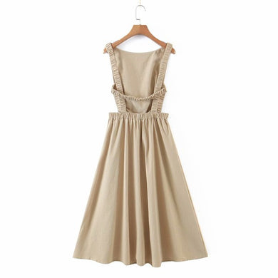 Taupe Backless Dress