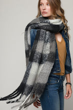 Load image into Gallery viewer, Super Soft Brushed Plaid Oblong Scarf