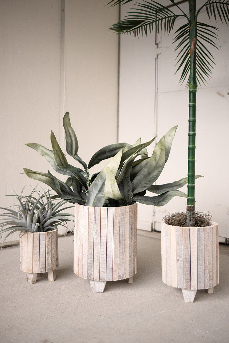 White Wash Planter