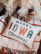 Load image into Gallery viewer, Merry Iowa Christmas Pillow
