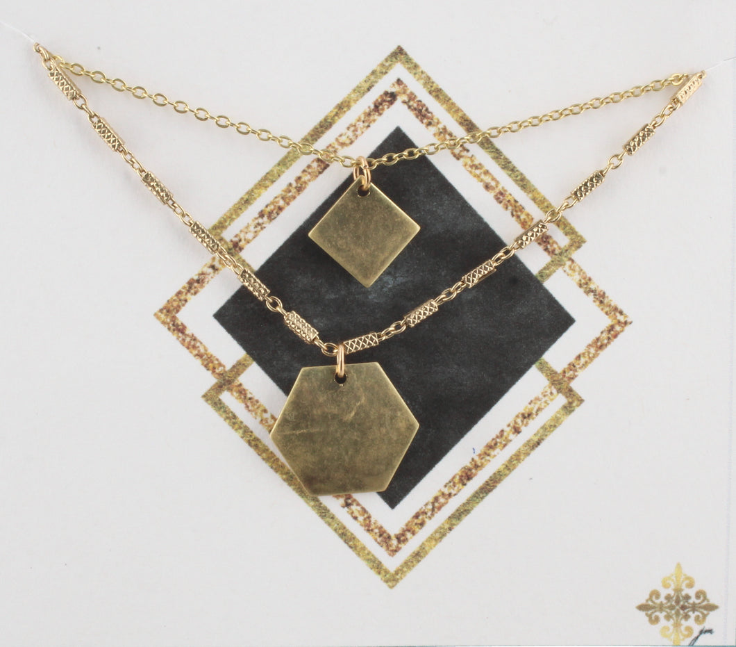 Hex/Square Necklace