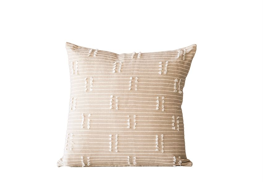 Taupe Cotton Pillow