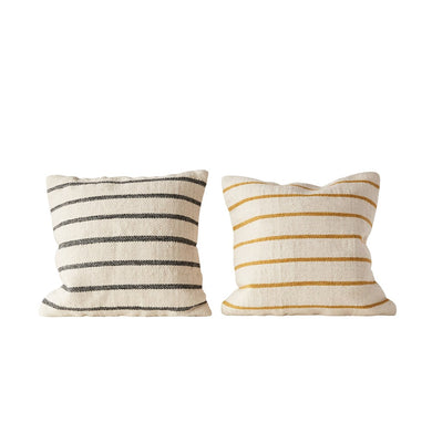 Mustard/Navy Stripe Pillow