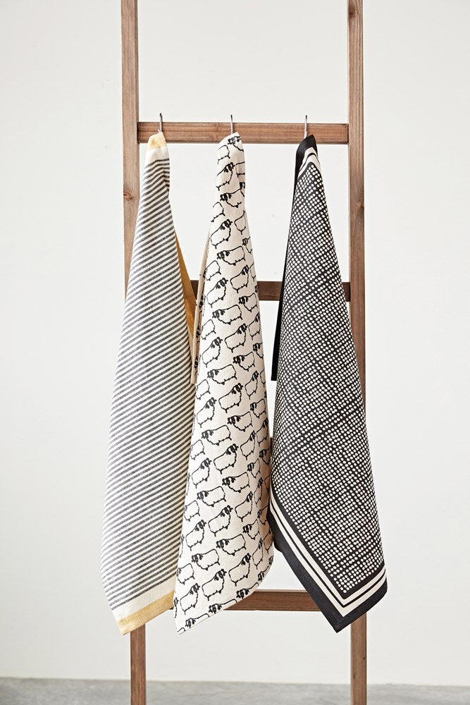Black and White Tea Towels