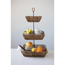 Load image into Gallery viewer, Woven 3 Tiered Basket