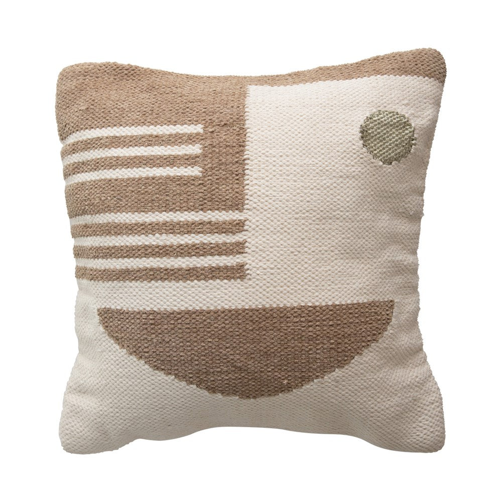 Square Woven Cotton & Wool Pillow
