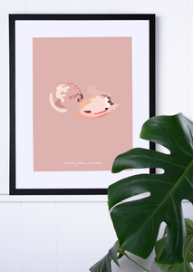 Custom Abstract Ultrasound Artwork - Fine Art Giclée Print - 1 Baby
