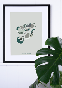 Custom Abstract Ultrasound Artwork - Fine Art Giclée Print - Twins