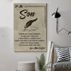 (cv771) QH family Poster - mom&dad to son - wherever your journey