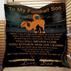 (QL105) LDA American football quilt - Dad to son - I want you to