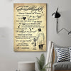 (cv990) LHD Family poster - To my granddaughter - Once upon a time