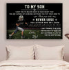(cv861) LDA American football poster - Dad to Son - never lose