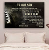 (cv908) American football poster - to our son - never lose LDA
