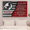 (cv864) LDA American football poster - Dad to Son - never feel that