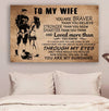 (cv984) LDA American football poster - To my wife - You are braver