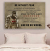 (cv1171) LDA Knight templar poster - Be without fear