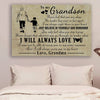 (cv893) LHD family poster - grandma to grandson - never feel that