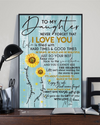 (cv1213) Sunflower Poster Mom Daughter Never forget