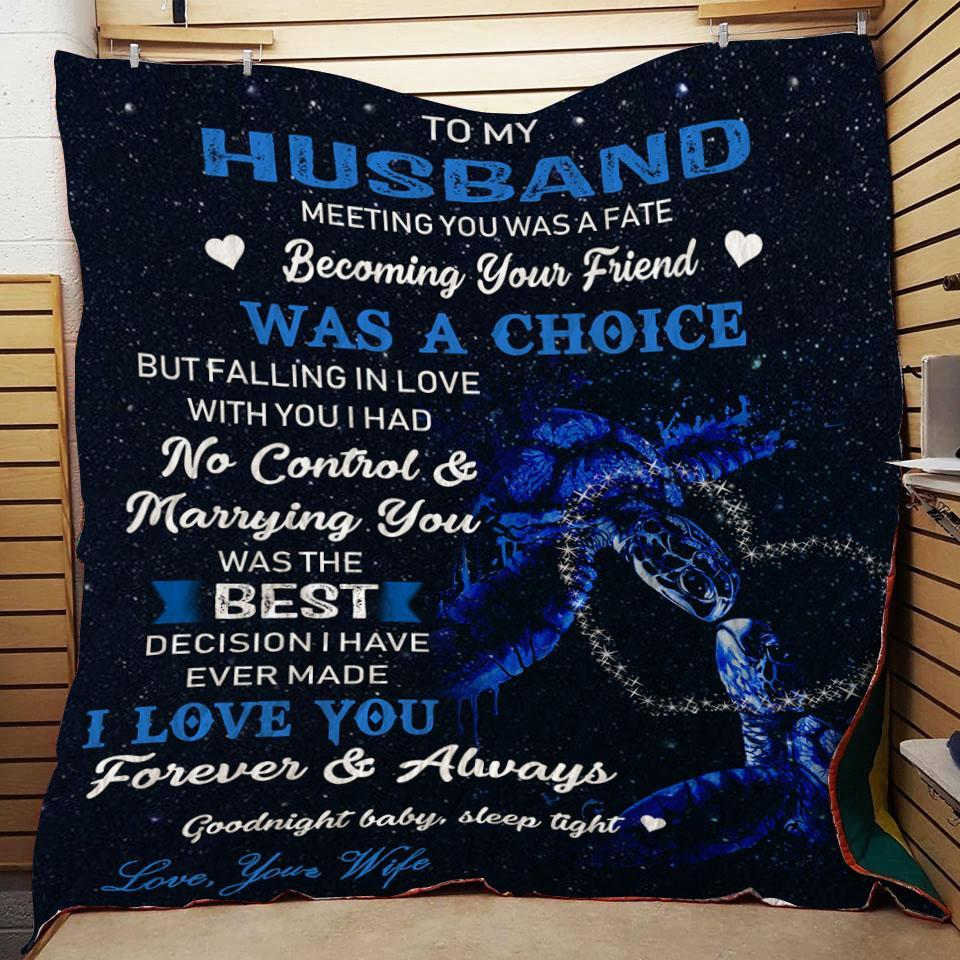 (QL399) LHD Turtle quilt - To my husband - Meeting you
