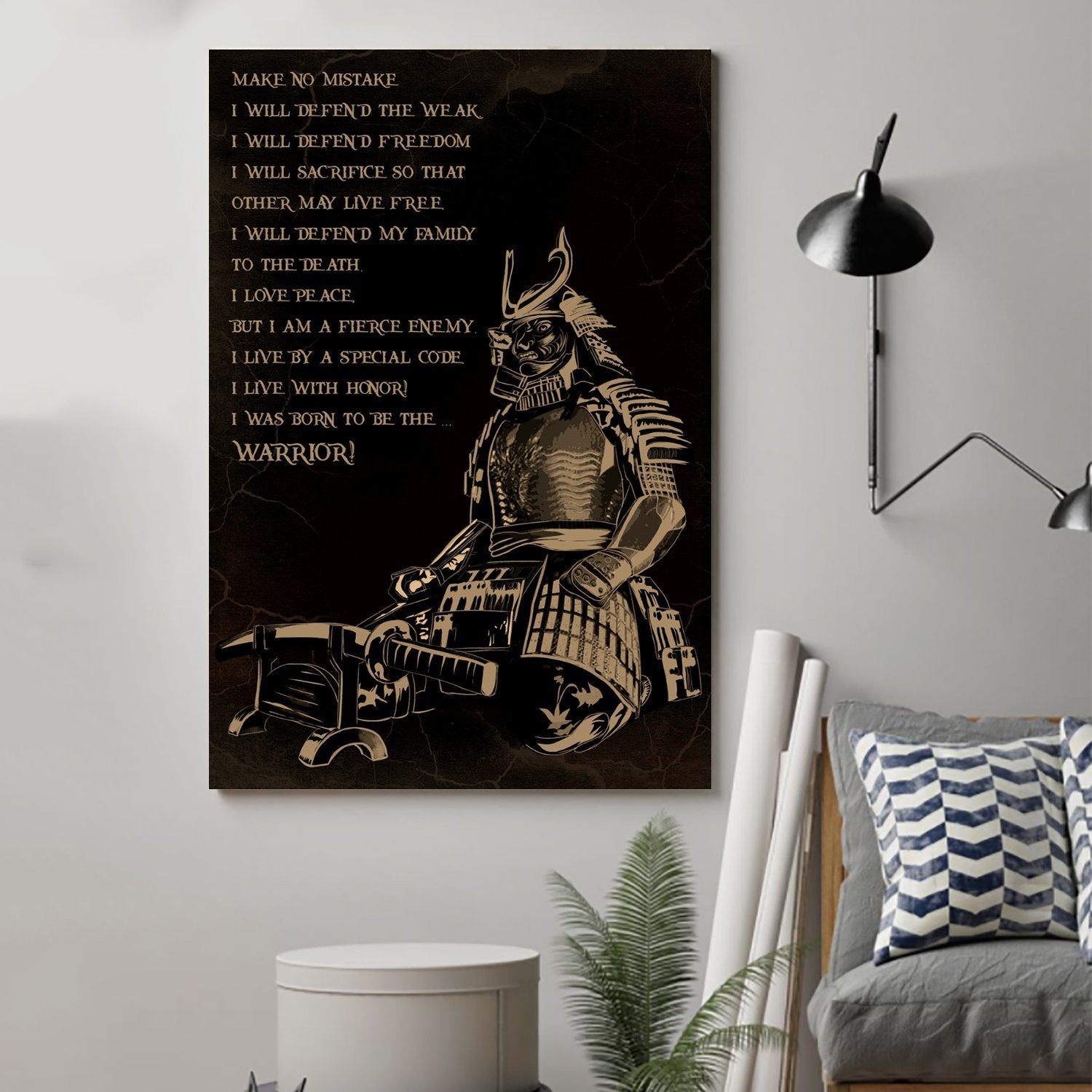 (cv26) Samurai Poster - i was born to be the warrior