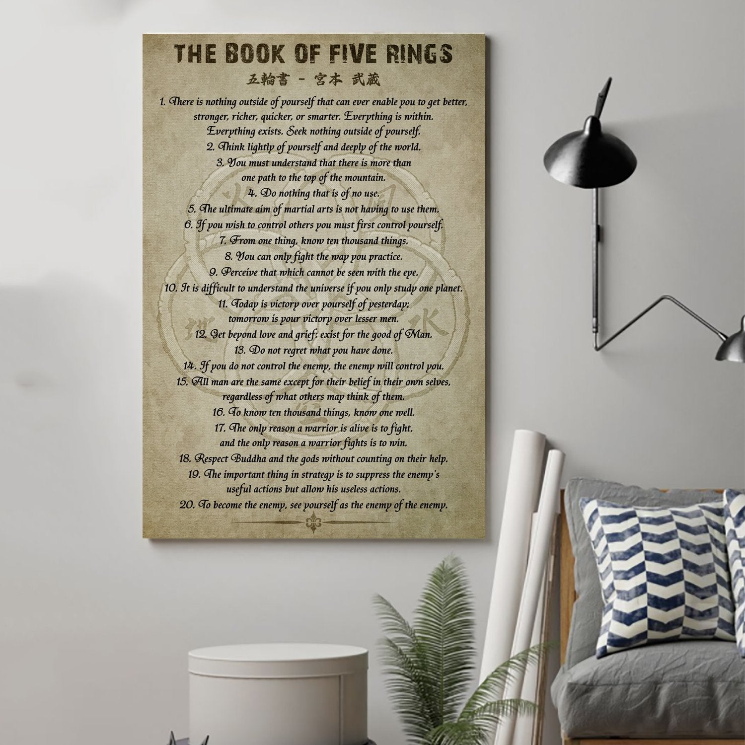 (cv35) Samurai Poster - the book of five rings