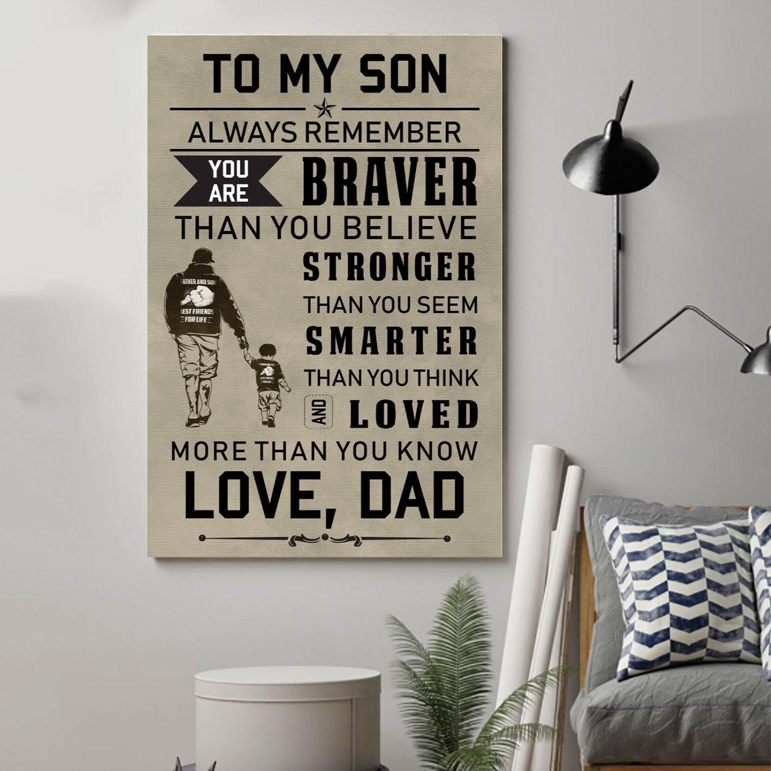 (cv46) family Poster - to my son