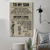 (cv55) soldier Poster - to my son