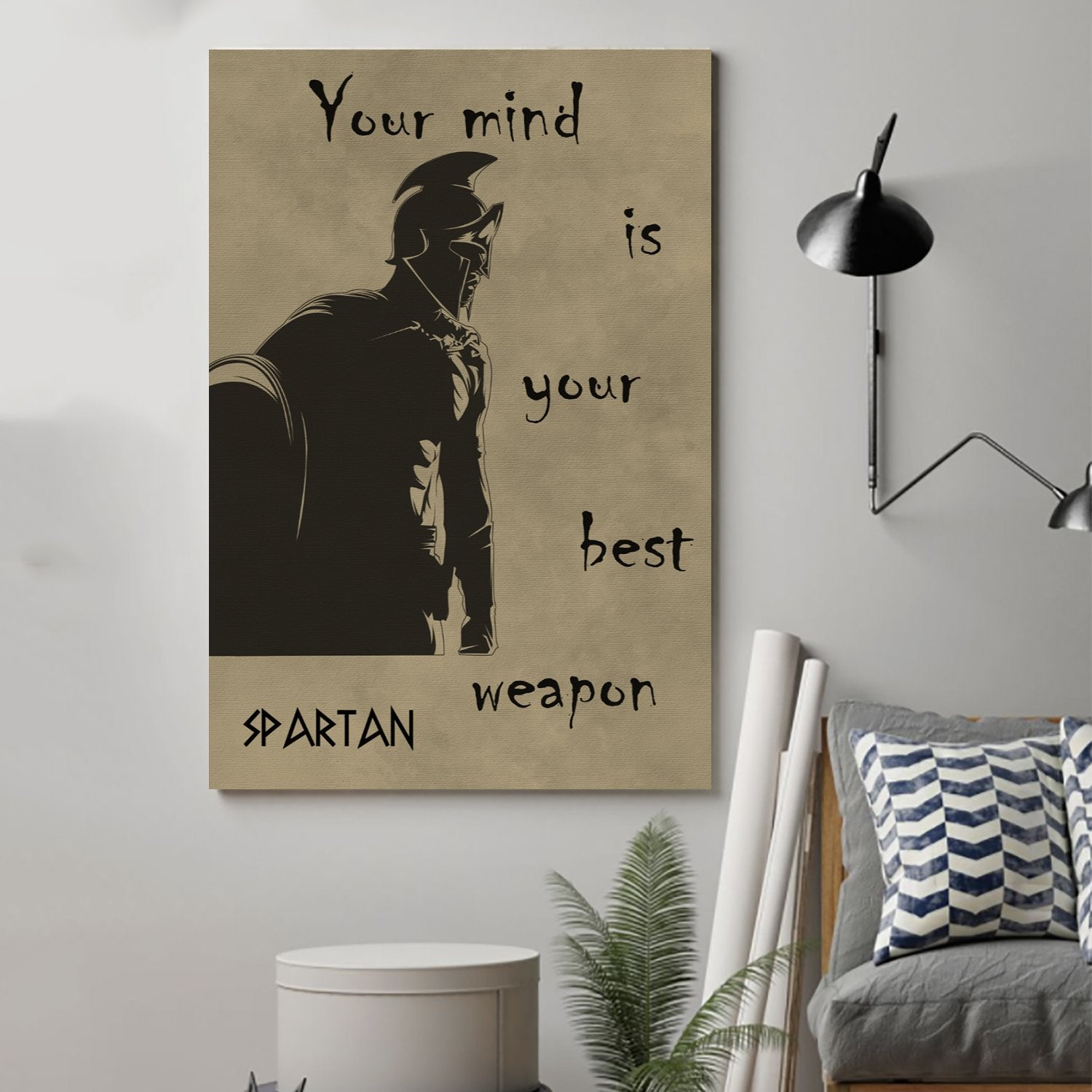 (cv78) spartan Poster - your mind is your best weapon