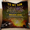 (Ql574) LVL Firefighter quilt - Dad to son - Never lose