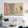 (cv1041) LHD Baseball Poster - Dad to son - Somewhere behind the ballplayer
