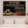 (cv744) QH Wrestling Poster - Mom to son - never lose vs4